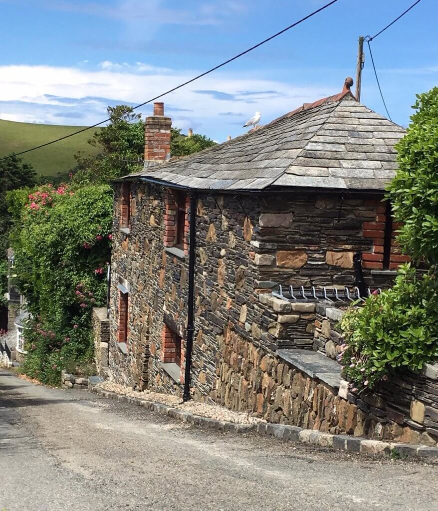 First and Last, Port Isaac, Cornwall, front of cottage