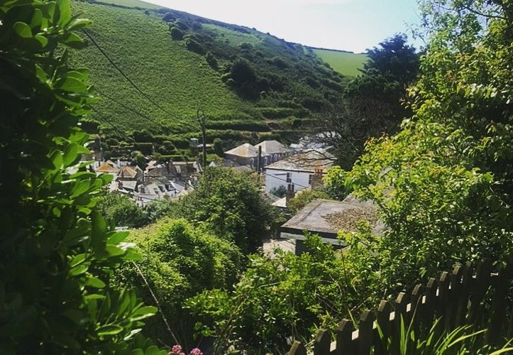 First and Last Cottage, Port Isaac, Cornwall, garden view